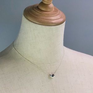 Authentic Tiffany Bean Pendant Necklace AG925